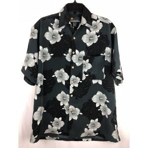 Island Tropics Men's Floral Button Down Shirt
